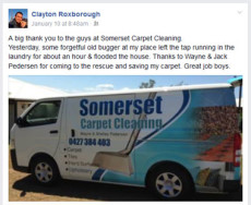 Capet Cleaning testimonial